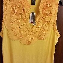 Ladies Blouse Nwt Grace Elements Size Xl Color Dandelion Retail Price 60.00  Photo