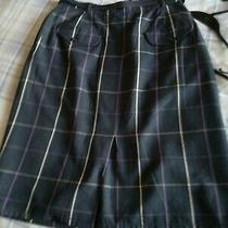 Ladies Blue Check Burberrys Skirt 26in Waist Photo