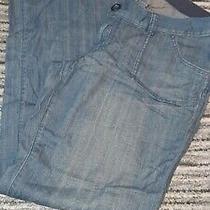 Ladies Blue Denim Bootleg Flair Jeansgap Maternity/adjustable Waists 8 Regular Photo