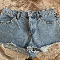 Ladies Blue Jeans Shorts Topshop Size 6 Photo