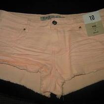 Ladies Bnwt Mini Shorts-Blush-Size 10-Denim Co Photo