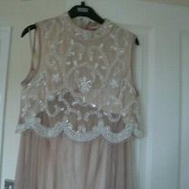 Ladies Boohoo Size 14 Top and Skirt Blush Pink Photo