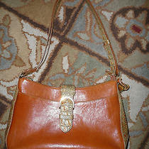 Ladies Brahmin Brulee Tuscan Collection Leather/alligator Handbag Photo