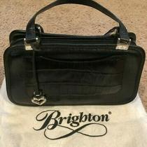 Ladies Brighton Black Pocketbook Purse With Dust Cover Euc Photo