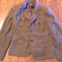 Ladies Brown Blazer Size M Acrylic Cotton Style & Co. Stylish Photo