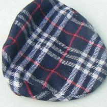 Ladies Burberry Hat Cap Blue Check Photo