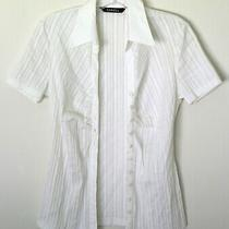 Ladies Caroll White Blouse/shirt. Eu36 Uk8. Excellent Condition. Photo
