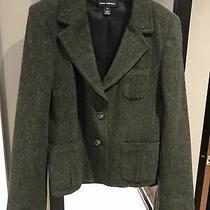 Ladies Club Monaco Green Wool Silk Blend Blazer Jacket Size 10 Photo