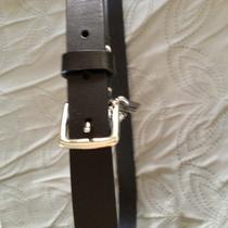 Ladies Coach Black Leather Belt Photo