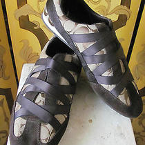 Ladies Coach Brown Monogram Canvas and Elastic Accent Athletic Shoes Sz10m Photo