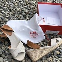Ladies Coach Henley Wedge Beige Sandals Sz 10 M New Photo