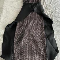 Ladies Coast Black and Blush Coloured Strapless Prom Dress With Back Slit Photo