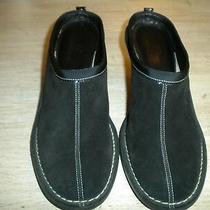Ladies Cole Haan Black Suede Mule Wedge Heels 6.5 Aa Photo