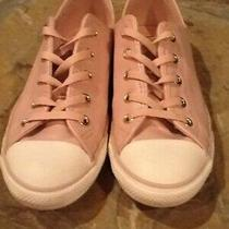 Ladies Converse All Star Sneakers Size 7 Pale Pink Blush Euc Photo