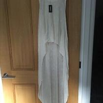 Ladies Cream Lightweight Long Back Vest Top by Express Size Xs Photo