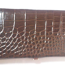 Ladies Croc Design Wallet New Photo