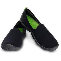 Ladies Crocs - Duet Busy Day Skimmer Black/graphite W10  Photo