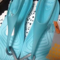 Ladies Crocs Sandals Aqua W7 Photo