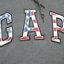 Ladies Dark Grey Gap American Flag Hoody Hoodie Hooded Sweatshirt Top Size Xs Photo