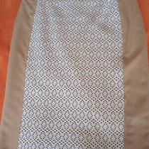 Ladies Designer Pencil Skirt. Basler. Size 10. White Lace/ Cream Photo