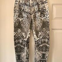 Ladies Diesel Black Gold Label Jeans 25 Size 8/10 P L26 White Grey Aztec Print Photo