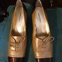 Ladies Dress Shoes Brown and Beige Tie Size 9 M Anne Klein Iflex - 2