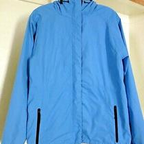Ladies Eddie Bauer Blue Hooded Hoodie Coat Jacket Shell  M Photo