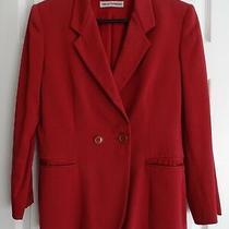 Ladies Emporio Armani Red Jacket/blazer Size 10 Photo