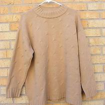 Ladies Escada Beige Cable Knit Sweater  40  Large Photo