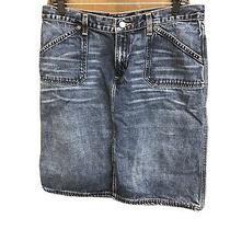 Ladies Express Blue Jean Skirt Size 11/12 Photo