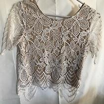 Ladies Express Lace Crop Top Size Small Photo