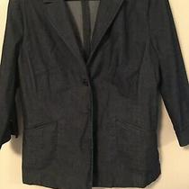 Ladies Express World Brand Stretch Jacket Size 11/12  Dark Blue Photo