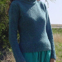 Ladies Fashion Billabong Sweater Small Blue Boucle Acrylic Cowl Neck Photo