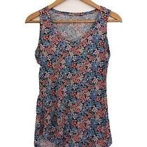 Ladies Flower Print Vest Top Size 10 Excellent Condition Photo
