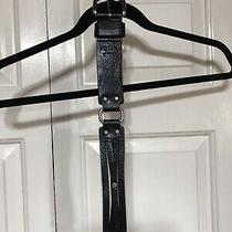 Ladies Fossil Belt Black and Silver Photo