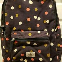 Ladies Fossil Blue Multicolor Polkadot Large Canvas Backpack Photo