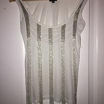 Ladies Full Circle Vest T-Shirt With Beaded Elements Size S  Photo