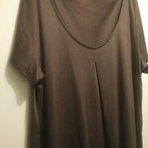 Ladies Gap Brown Cotton Blend Long Sleeve Top  Size M Photo