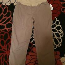 Ladies Gap Maternity Over Bump Chino Style Trousers. New With Tags. Size 12. Photo