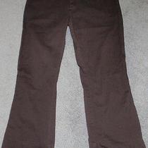 Ladies Genuine Dickies Trouser Pantkhakibrowncotton/spandexsize 13 Photo