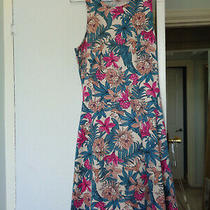 Ladies Girls h&m Dress Size S Pink Flowers Green Cream Photo