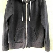 Ladies/girls Hooded Fleece Jacket Size M From h&m Grey  With Front Pockets & Zip Photo