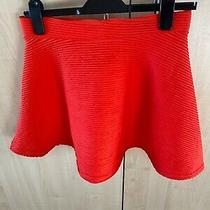 Ladies/girls Skater Skirt Size 10. Orange. Pull on Style. From Topshop. Bnwot Photo