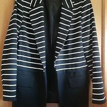 Ladies Grace Elements Black and White Striped Jacket Sz 16 Photo