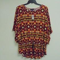 Ladies Grace Elements Top Nwt Size Xl Color Multi Suggested Retail 60.00 Photo