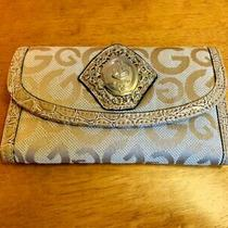 Ladies Guess Wallet Multi Textured Croc Pattern Gold Colour Photo