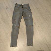 Ladies h&m Skinny Grey Ripped Jeans Euro 36 Uk 8 Photo