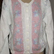 Ladies Hand Knit Sweater Size Med by Anne Campbell Photo