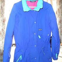 Ladies High End Patagonia Winter Warm Ski Snow Jacket Coat Blue Teal Pink 14 L Photo