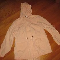 Ladies J. Crew Peach Blush Lightweight Hooded Jacket Size Xl Photo